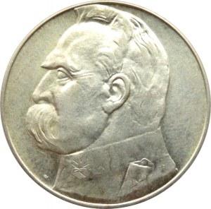 Polska, II RP, Józef Piłsudski, 10 złotych 1936, Warszawa, piękny