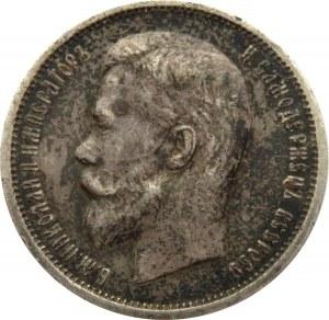 Rosja, Mikołaj II, 50 kopiejek 1913 BC, Petersburg, ciemna patyna