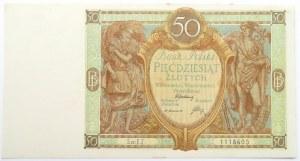 Polska, II RP, 50 złotych 1929, seria EZ, UNC-