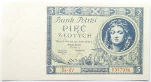 Polska, II RP, 5 złotych 1930, seria BV, UNC