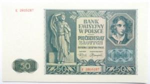 Polska, Generalna Gubernia, 50 złotych 1941, seria E, UNC