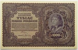 Polska, II RP, 1000 marek 1919, I serja DB - typ 7, UNC