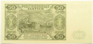 Polska, RP, 50 złotych 1948, seria EL, WZÓR, UNC
