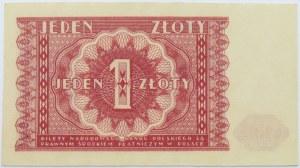 Polska, RP, 1 złotych 1946, bez oznaczenia serii, UNC
