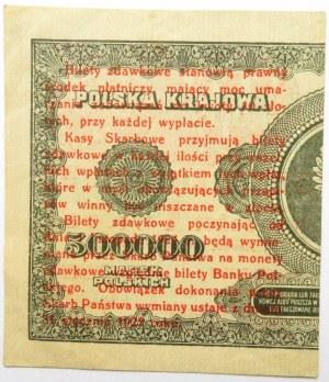 Polska, II RP, bilet zdawkowy 1 grosz 1924, prawa połówka, UNC-