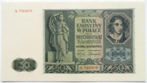 Polska, Generalna Gubernia, 50 złotych 1941, seria A, UNC