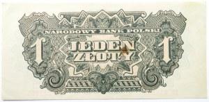 Polska Ludowa, seria lubelska, 1 złoty 1944, seria EC, UNC-