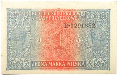 Polska, II RP, 1 marka 1916, Generał, seria B, UNC-