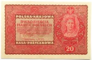 Polska, II RP, 20 marek 1919, II seria M, UNC