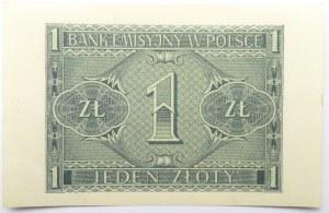 Polska, Generalna Gubernia, 1 złoty 1941, seria BD, UNC