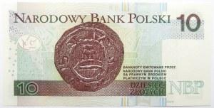 Polska, III RP, 10 złotych 2012, seria AA 2229222, UNC