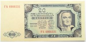 Polska, RP, 20 złotych 1948, seria FS, UNC