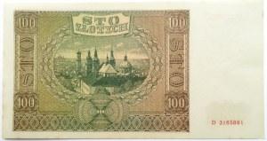 Polska, Generalna Gubernia, 100 złotych 1941, seria D, UNC-
