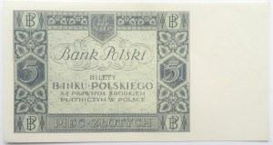 Polska, II RP, 5 złotych 1930, seria CU, UNC
