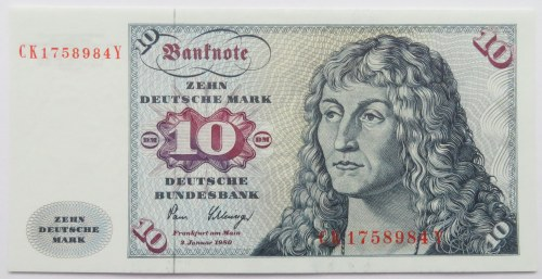 Niemcy, 10 marek 1980, seria CK, UNC