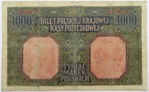 Polska, II RP, 1000 marek 1916, Generał, seria A, bardzo rzadkie
