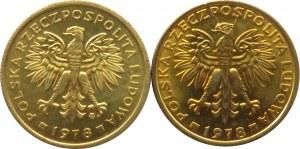 Polska, PRL, 2 złote 1978, 2 odmiany, IDEALNE, UNC