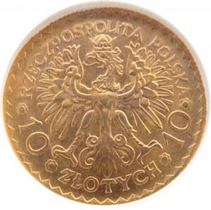Polska, II RP, Bolesław Chrobry, 10 złotych 1925, NGC MS63
