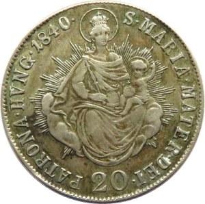 Austria, Ferdynand I, 20 kreuzer (krajcar) 1840 B, Kremnica