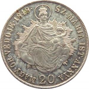 Austria, Ferdynand I, 20 kreuzer (krajcar) 1848 K.B., Kremnica
