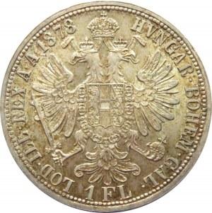 Austro-Węgry, Franciszek Józef I, 1 floren 1878, Wiedeń