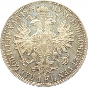 Austro-Węgry, Franciszek Józef I, 1 floren 1859, Kremnica