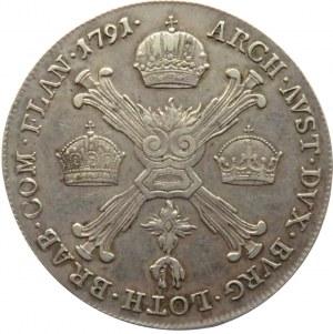 Austria, Leopold II, 1/4 talara 1791 A, Wiedeń