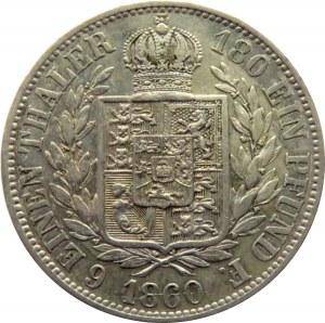 Niemcy, Hannover, Georg V, 1/6 talara 1866 B, Hannover
