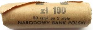 Polska, PRL, 2 złote 1987, rolka bankowa 1 X 50 sztuk