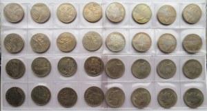 Polska, PRL, 10 złotych 1967-71, lot menniczych monet, 4 x 8 sztuk