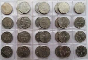 Polska, PRL/III RP, 50-10000 złotych 1981-1991, lot menniczych monet, 7 x 8 sztuk