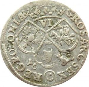 Jan III Sobieski, szóstak 1682, Kraków, popiersie w zbroi