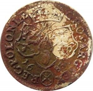 Jan III Sobieski, szóstak 1683 TLB, Bydgoszcz, herb Leliwa, jedenaście klejnotów