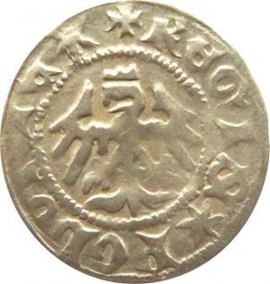 Władysław Jagiełło, półgrosz bez daty, litery SA pod koroną (S w poziomie), Kraków (R)