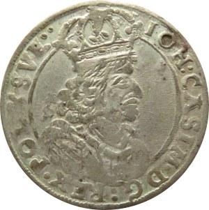 Jan II Kazimierz, szóstak 1661 TT, Bydgoszcz, odmiana z obwódek (R)