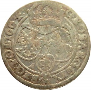Jan II Kazimierz, szóstak 1664 AT, Kraków R3!!!