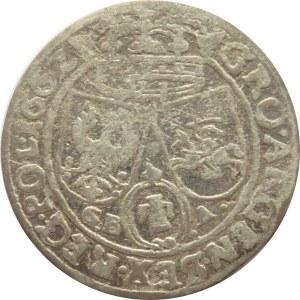 Jan II Kazimierz, szóstak 1662 GB-A, Lwów, Rzadki R2!