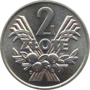 Polska, PRL, Jagody, 2 złote 1970, UNC
