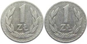Polska, PRL, 1 złoty 1957, Warszawa, dwie sztuki