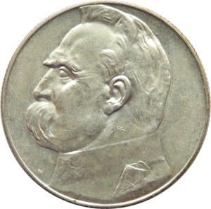 Polska, II RP, Józef Piłsudski, 5 złotych 1936, piękny