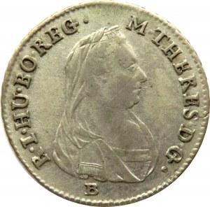 Austria, Maria Teresa, 3 krajcary 1778 B, Kremnica, ładny egzemplarz