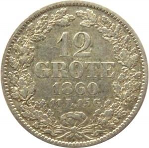 Niemcy, Brema, 12 grote 1860, srebro