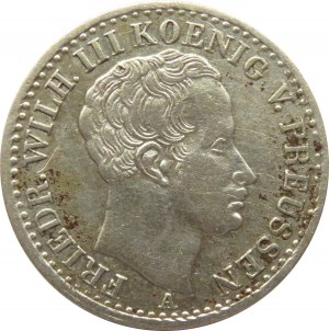 Niemcy, Prusy, Fryderyk Wilhelm III, 1/6 talara 1826 A, Berlin
