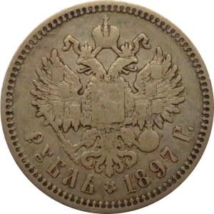 Rosja, Mikołaj II, 1 rubel 1897**, Bruksela