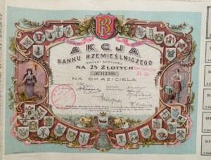 Polska, Akcja Banku Rzemieślniczego na 25 złotych, 2 emisja, Łódź 1925, Nr 012406