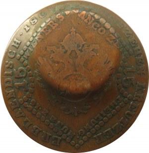 Niemcy, Bawaria, próbne odbicie 5 marek (złoto) na 15 krajcarach austriackich z 1807, rzadkie