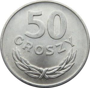 Polska, PRL, 50 groszy 1975 bez znaku mennicy, Warszawa, UNC