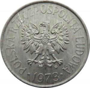 Polska, PRL, 50 groszy 1973 ze znakiem mennicy, Warszawa, UNC
