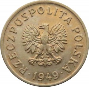 Polska, PRL, 10 groszy 1949, Kremnica, UNC