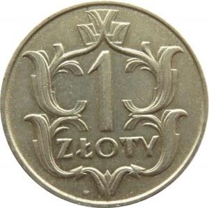 Polska, II RP, 1 złoty 1929, ze znakiem mennicy, Warszawa, ładny